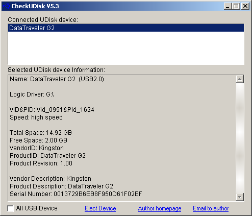 Download checkudisk 5. 4 freeware software 2014 flash drive repair.