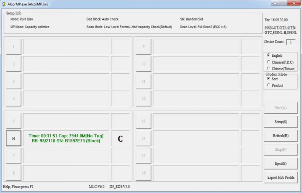 ALCOR_MP_v16 09 30 00 / FlashBoot ru - восстановление флешек